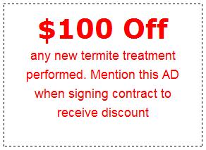 $100 Off New Termite Treatment
