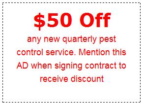 $50 Off Quarterly Pest Control Service