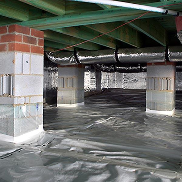 Clean Air Crawl Space Home Installation